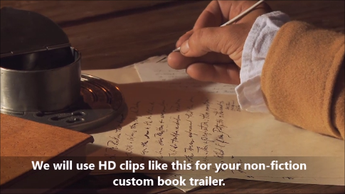 Custom Book Trailer (w/royalty free video clips) - for Non-fiction books