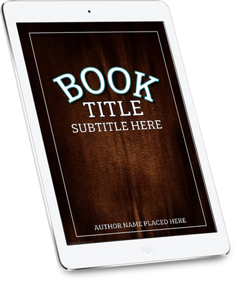 3-D BOOK COVER IPAD (LEFT TILT) - Book Trailers for your books!