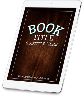 3-D BOOK COVER IPAD (RIGHT TILT) - Book Trailers for your books!