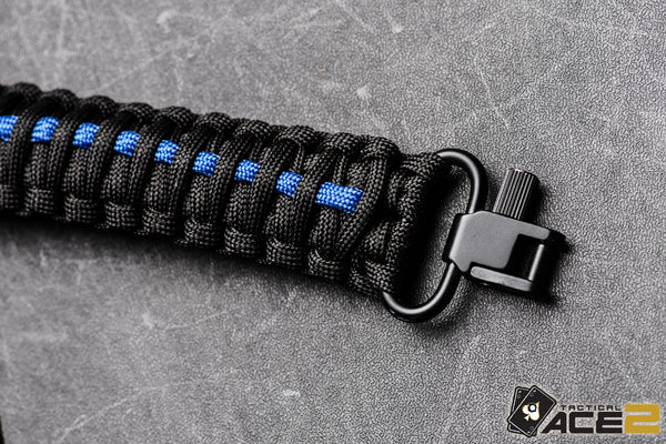 Gun Sling - Thin Blue Line Paracord-Ace Two Tactical