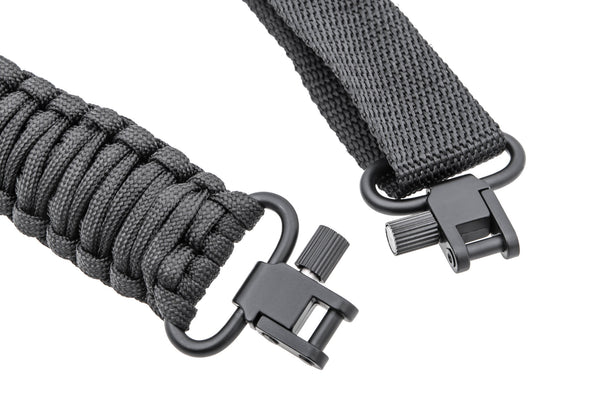 Gun Sling - All Black Paracord-Ace Two Tactical