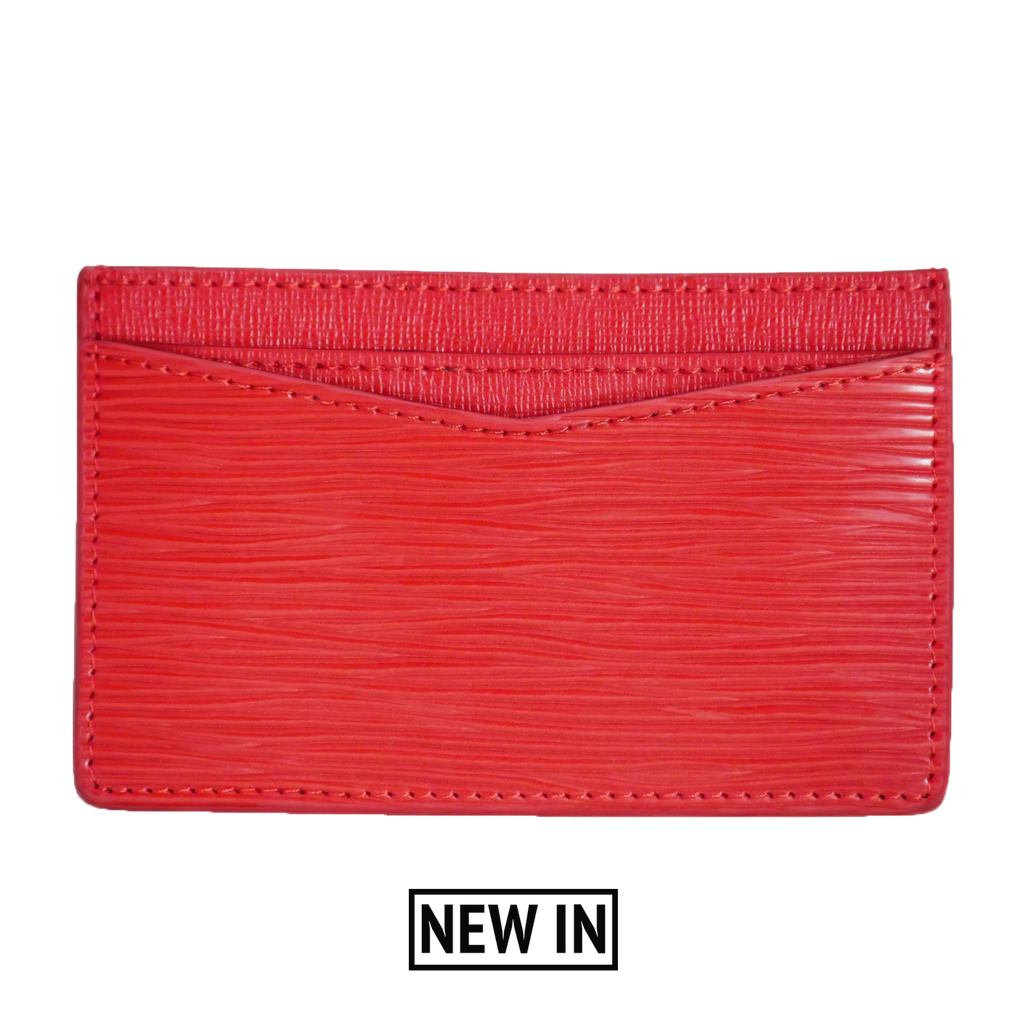 Blood Red Card Holder