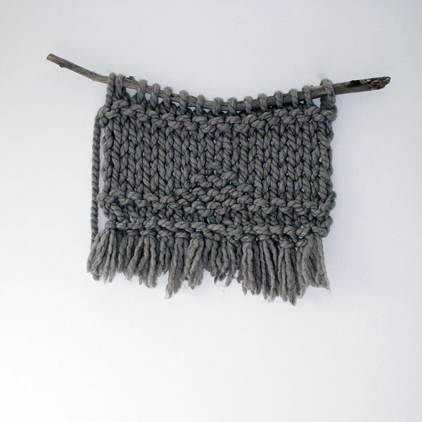 Little Oneroa Hand Knitted Wallhanging