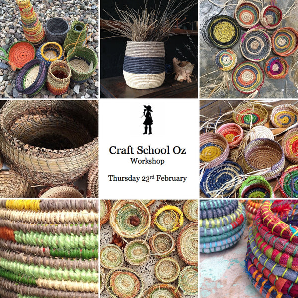 CRAFT SCHOOL OZ Basket Coiling