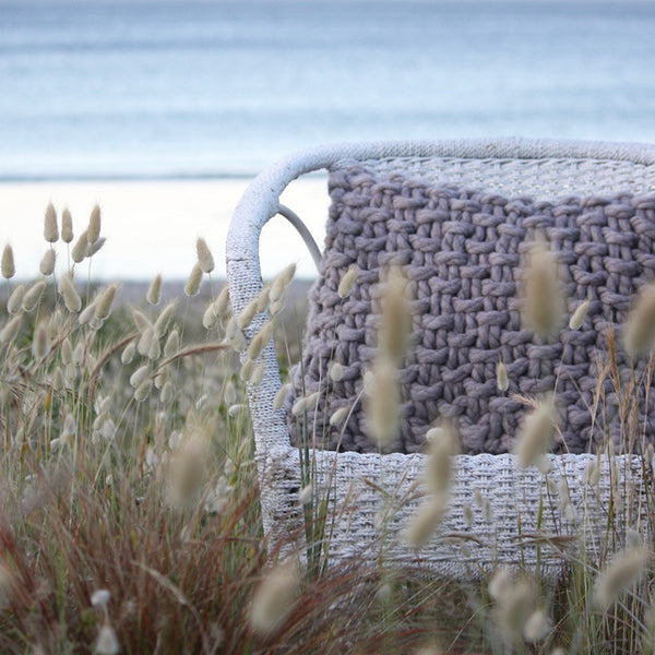 Palm Beach Hand Knitted Cushion - The Barnacle