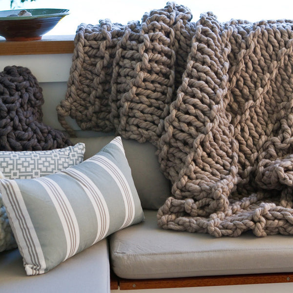 Sandy Bay Hand Knitted Throw