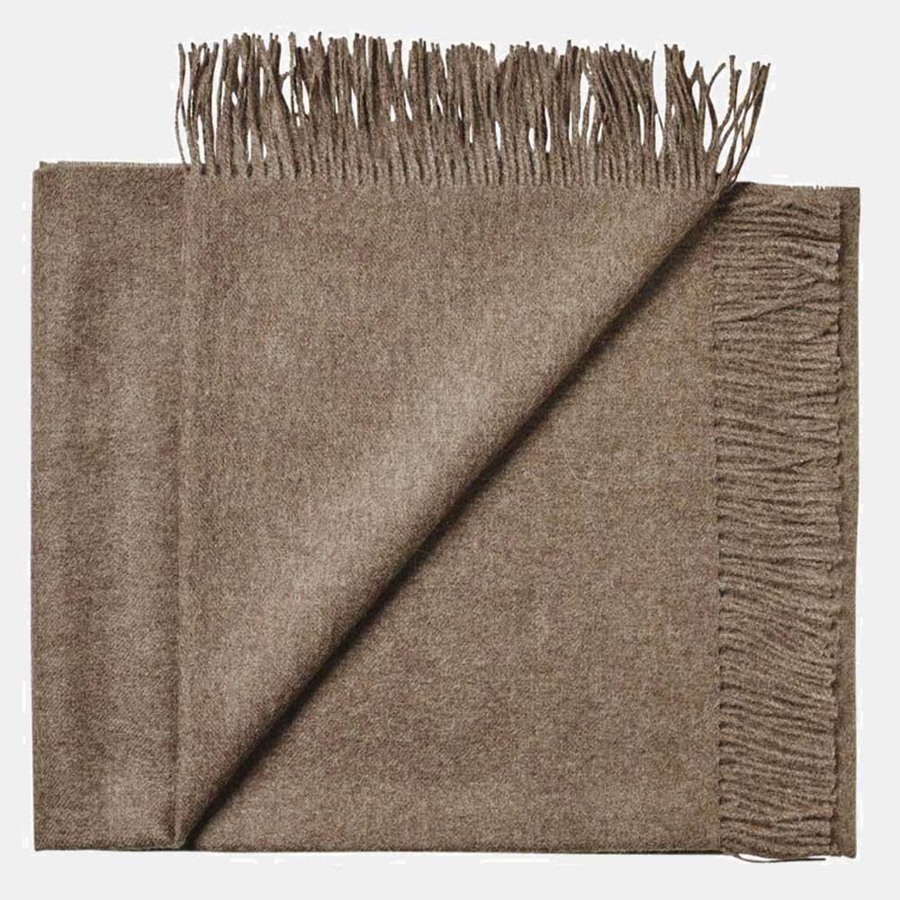 alpaca throw brown