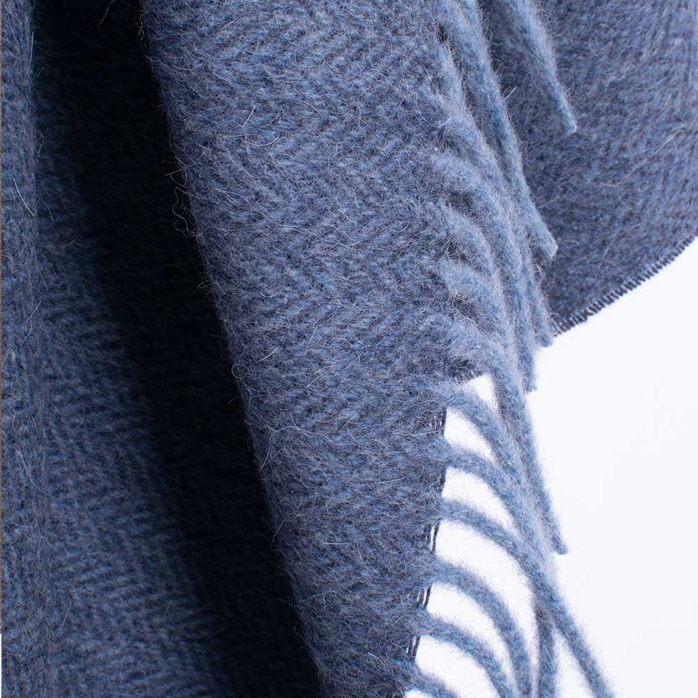 alpaca blanket blue color