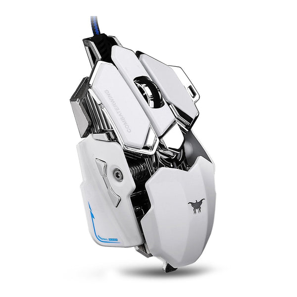 Cyrex CW-80 4800 DPI Optical USB Wired Professional Gaming Mouse - White