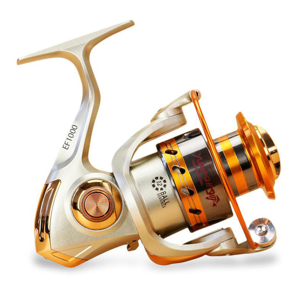 Katana EF1000-9000 12BB Metal Spinning Fishing Reels Fly Wheel