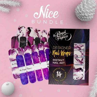 Christmas Nail Art bundle, white nails, pink nails, marble nails