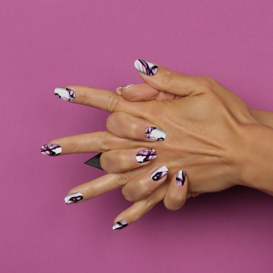 Her Royal Flyness - I WOULD DYE FOR YOU Nail wraps, marble Nail wraps, white nails