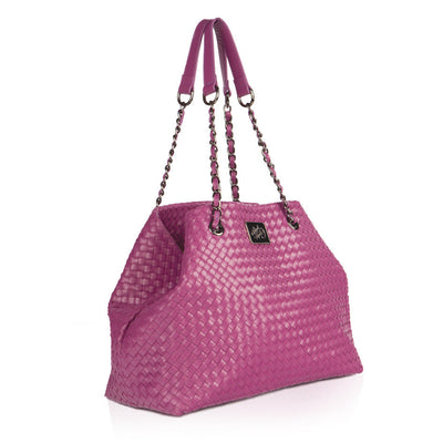 GRAPE WOVEN Leather bag, Handbags,Handbags - Tote bags,  - Her Royal Flyness
