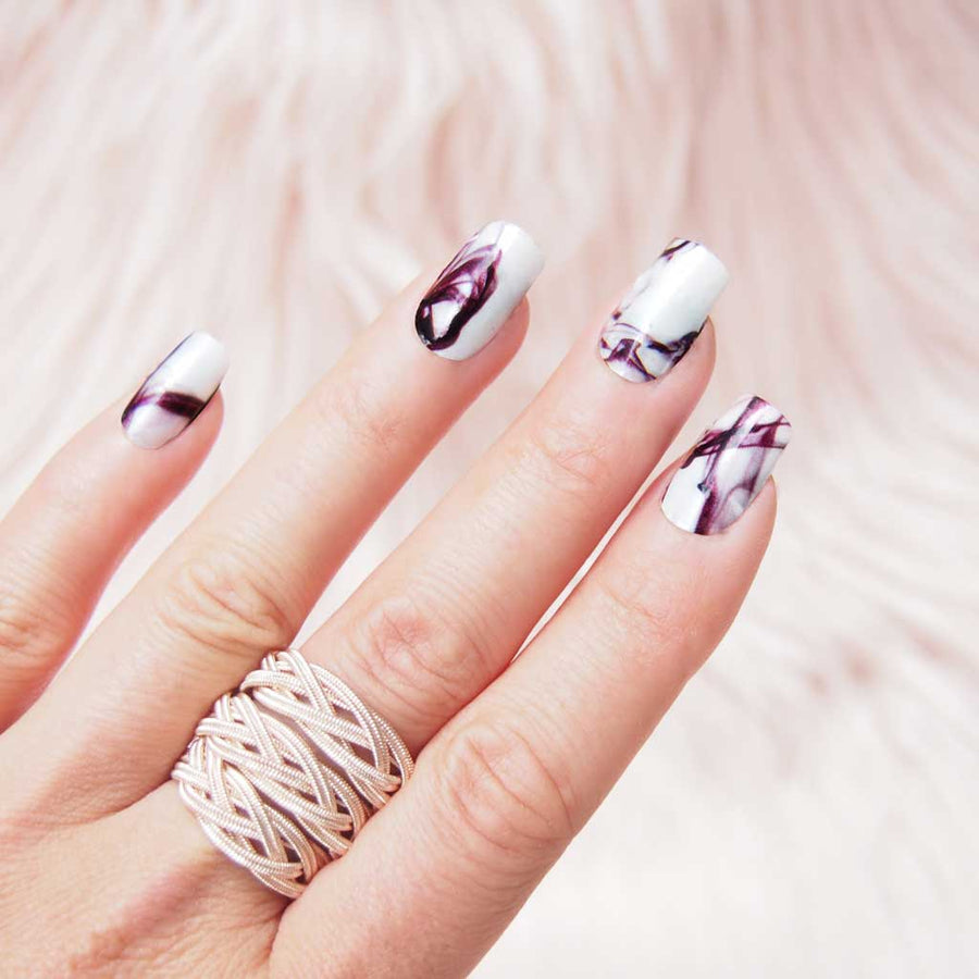 Pink Glitter nail art, white nails, lips nailart