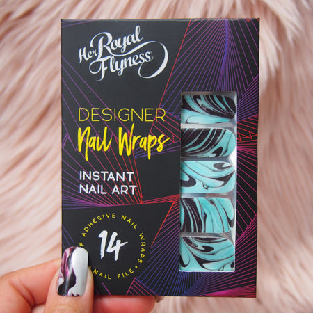 SAMPLE A GLAM PACK - INTRODUCTORY OFFER PRICE, Nail wraps,  - Her Royal Flyness