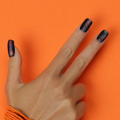 Her Royal Flyness - NEON DANCEFLOOR Nail wraps, glitter nails