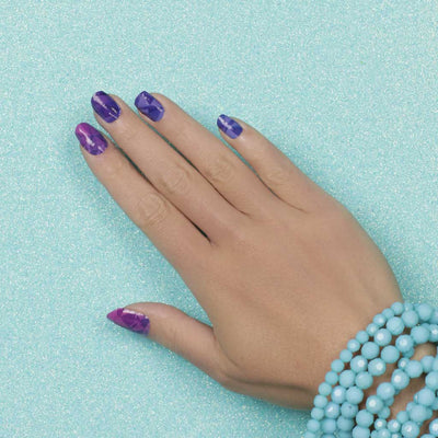 Nail wraps - Her Royal Flyness pink geode nail design, purple nails