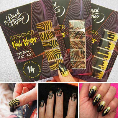 That Gold Tho Nail Wrap Bundle, Nail wraps, gold nail art, glitter nails