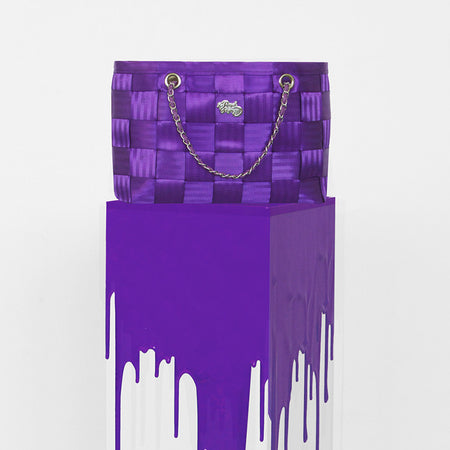 Purple Chain Seatbelt Bag, Handbags,Handbags - Non leather,  - Her Royal Flyness