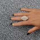 Nail wraps - Her Royal Flyness gold glitter drips nail art