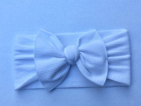 Winter White Babette Bow