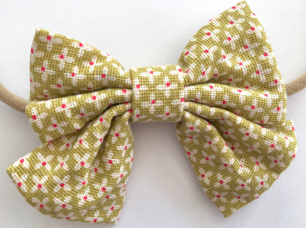 Lime and Flora Babette Bows Thin Headband