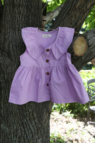 Lavender Button Down Dress