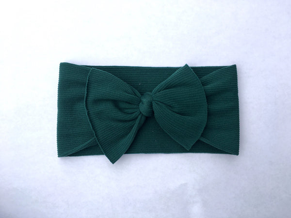 EverGreen Ribbed Babette Bow