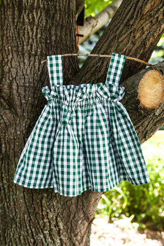 EverGreen Gingham Baby Doll Top