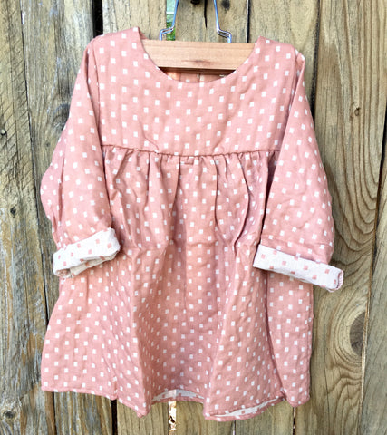 Mauve Dot Baby Doll Dress