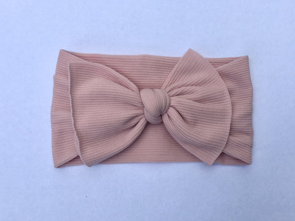 Marvelous Mauve Ribbed Babette Bow