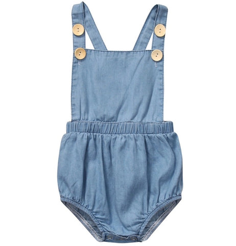 Denim Criss-Cross Romper