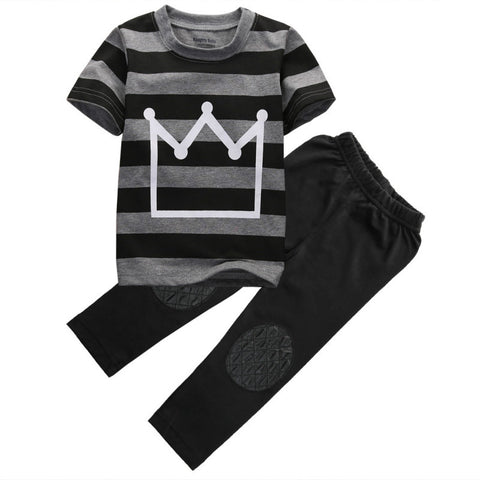 "Toddler Boy 2 Piece Set ""Crown"""