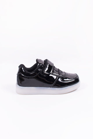 Led Black Patent Toddler Shoes