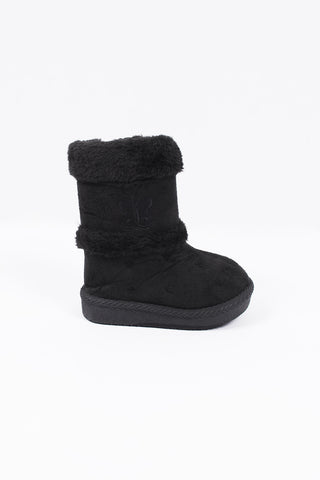 Winter Baby Boot Black Butterfly