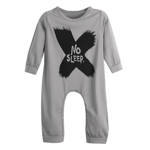 "Baby Romper ""NO SLEEP"""