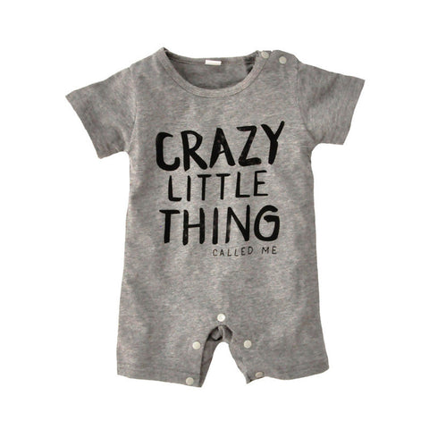 "Baby Romper Bodysuit ""CRAZY LITTLE THING"""