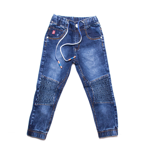 Kids Denim Moto Jogger