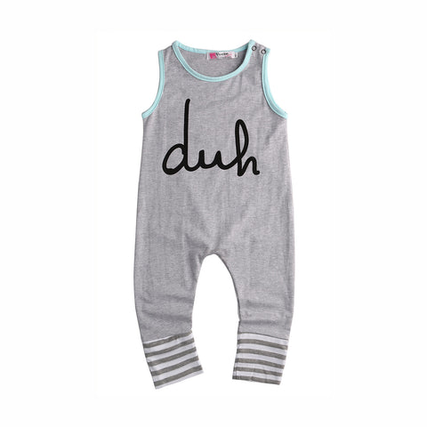 "Baby Girl Boy Romper ""Duh"""