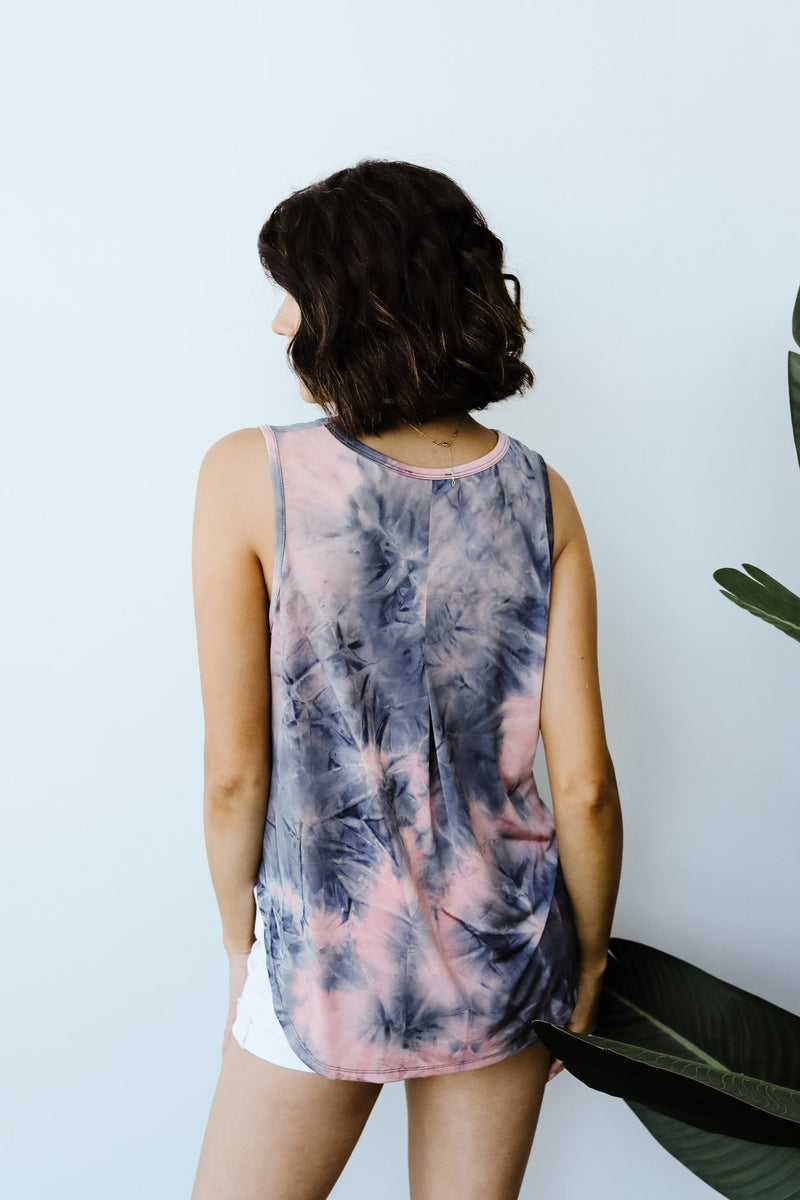 Caribbean Tie Dye Tank In Mauve-1XL, 2XL, 7-16-2020, 7-24-2020, Bonus, Group A, Group B, Group C, Large, Medium, Plus, Small, Tops, XL-Womens Artisan USA American Made Clothing Accessories