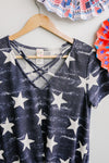 Starcrossed Top-1XL, 2XL, 3XL, 6-25-2020, Group A, Group B, Group C, Large, Medium, Plus, Small, Tops, XL, XS-Womens Artisan USA American Made Clothing Accessories