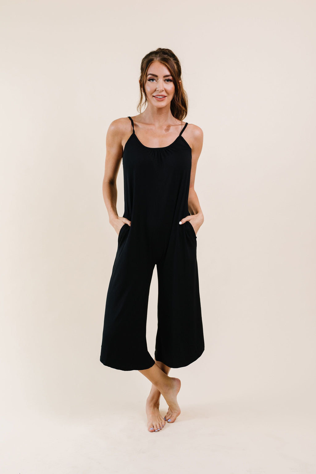 Good Better Best Cropped Tank Jumpsuit - On Hand-1XL, 2XL, 3XL, 8-20-2020, BFCM2020, Bottoms, Group A, Group B, Group C, Group D, Group T, Large, Made in the USA, Medium, Plus, Small, XL, XS-Womens Artisan USA American Made Clothing Accessories