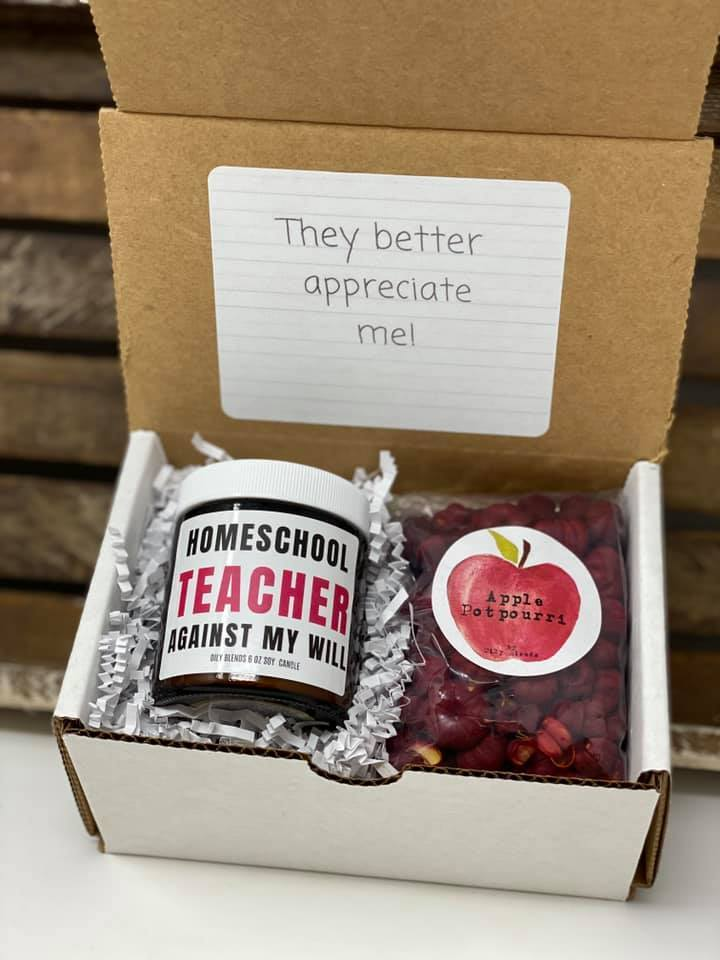 Teacher Gift Boxes-Homeschool Teacher By Force-Womens Artisan USA American Made Clothing Accessories