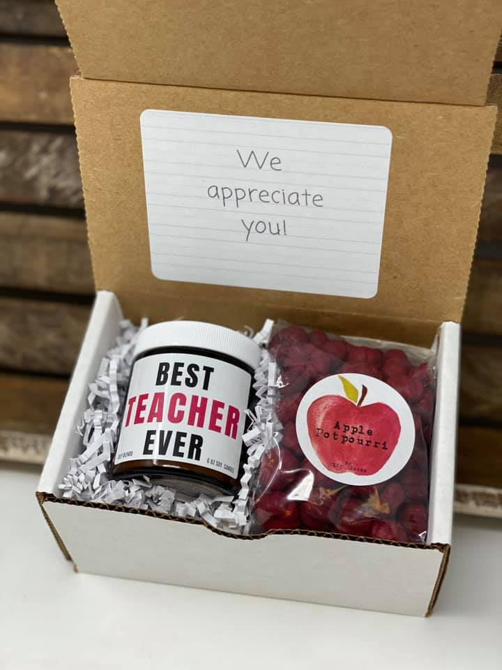 Teacher Gift Boxes-Best Teacher Ever-Womens Artisan USA American Made Clothing Accessories
