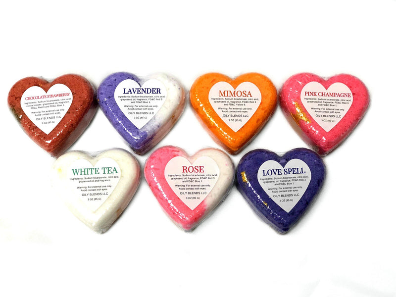 Heart Valentine Bath Bombs--Womens Artisan USA American Made Clothing Accessories