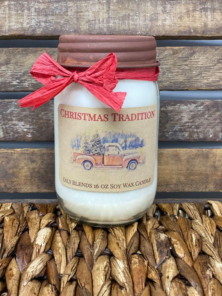 Jumbo 16 oz Soy Wax Christmas Candles--Womens Artisan USA American Made Clothing Accessories