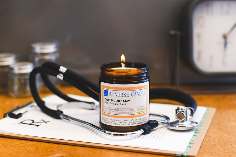 Nurse Candles - 10 oz Soy Wax Candles--Womens Artisan USA American Made Clothing Accessories