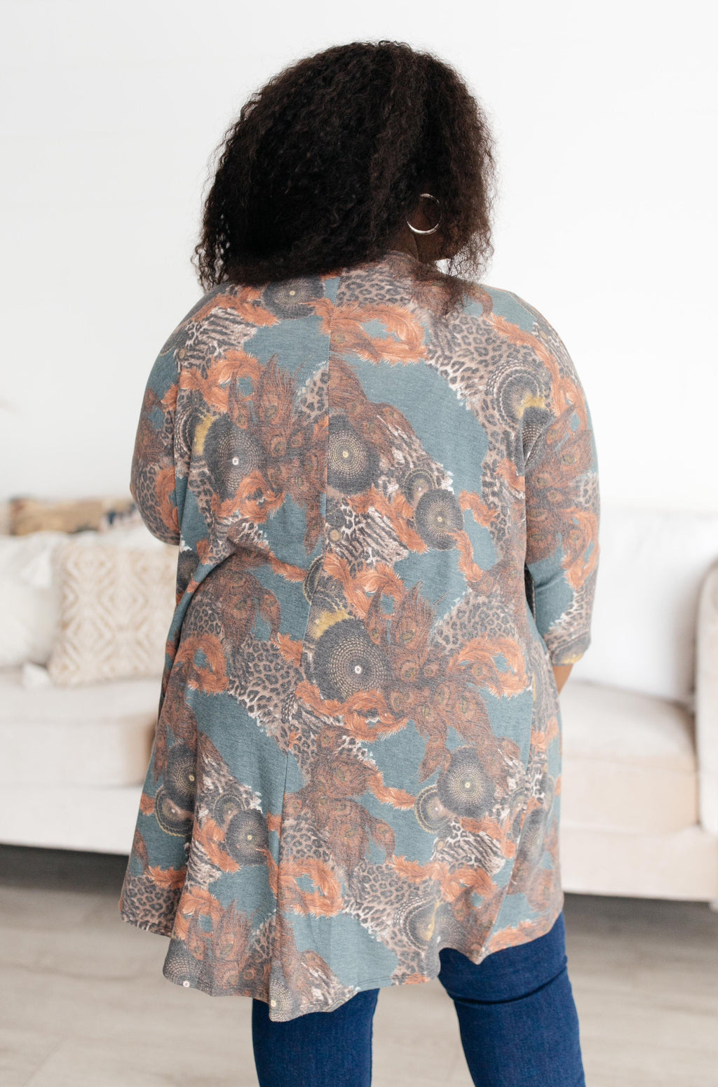 Abstract and Artistic Kimono-1XL, 2-16-2021, 2XL, 3XL, Group A, Group B, Group C, Group D, Large, Made in the USA, Medium, Small, Tops, XL, XS-Womens Artisan USA American Made Clothing Accessories
