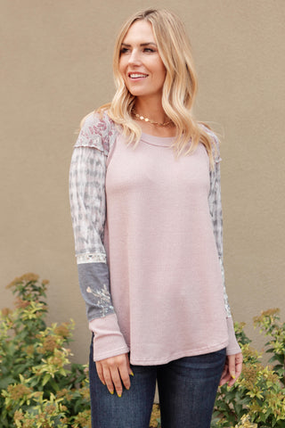 Lightweight Striped Pullover In Taupe - On Hand