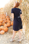 Angles And Stripes Dress in Navy-10-29-2020, 11-6-2020, 1XL, 2XL, 3XL, BFCM2020, Bonus, Dresses, Final Few Friday, Group A, Group B, Group C, Group D, Group T, Group W, Large, Made in the USA, Medium, Small, XL, XS-Womens Artisan USA American Made Clothing Accessories